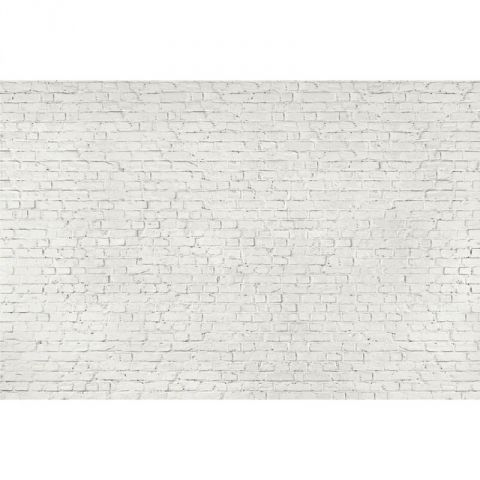 1 wall distressed white brick wallpaper mural next day for Distressed brick wall mural