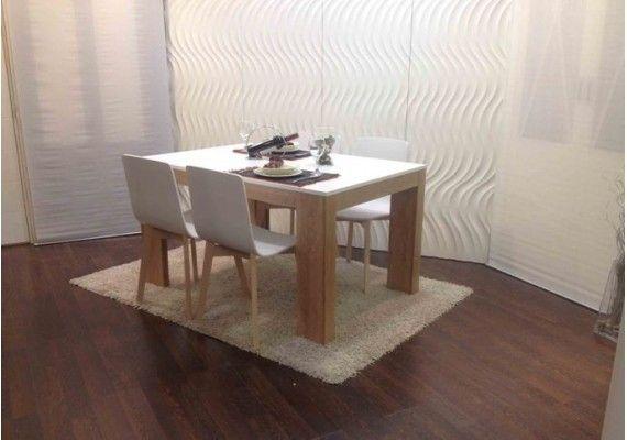 robusta y elegante mesa de comedor extensible en