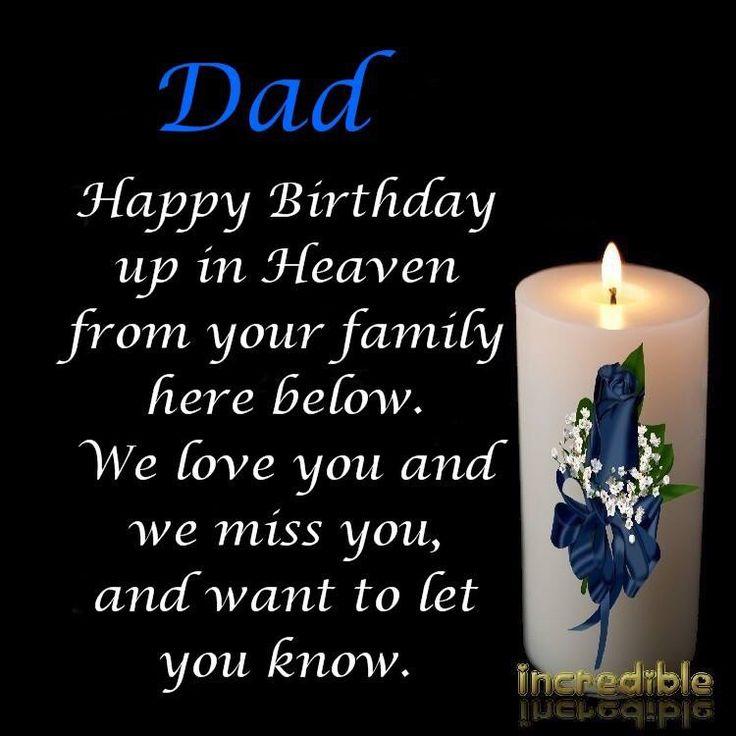 ❤️ HAPPY BIRTHDAY IN HEAVEN DAD