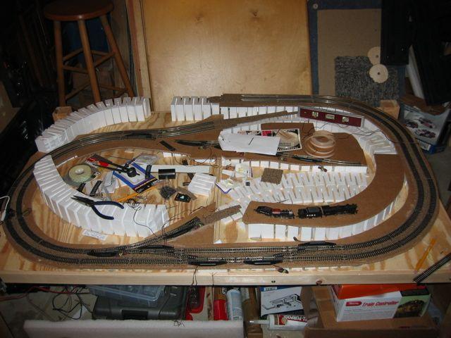Small  Room Ho Model Railroad Shelf