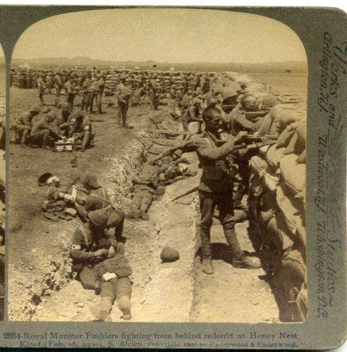 BOER WAR UNDERWOOD STEREOSCOPIC VIEW CARD ROYAL MUNSTER FUSILIERS 28   eBay