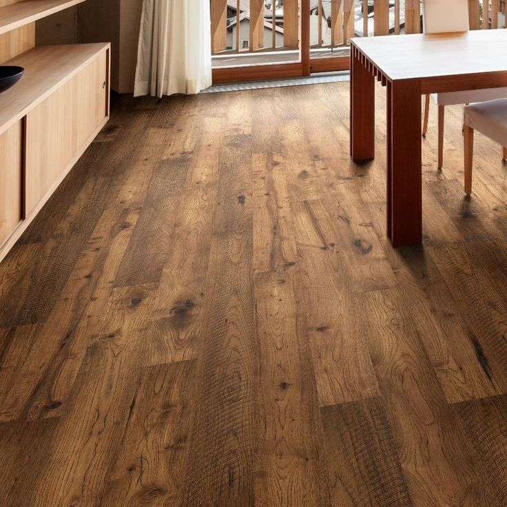 "Forge 7-1/2"" Engineered Hickory Hardwood Flooring in Brown"
