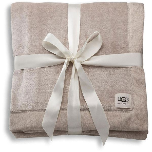 Ugg Duffield Throw Soft Throw Blanket ($98) ❤ liked on Polyvore featuring home, bed & bath, bedding, blankets, oatmeal, ugg australia, polyester blanket, zen bedding and polyester throw