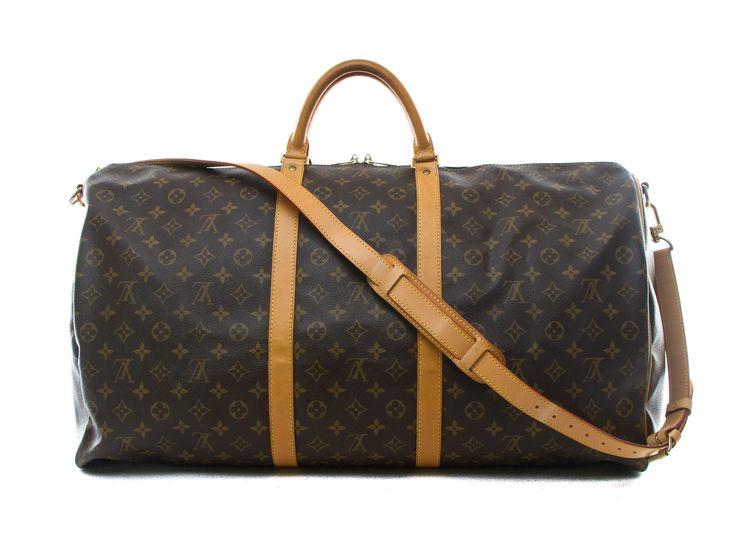 Authentic Louis Vuitton monogram Keepall bandouliere 60 M41412