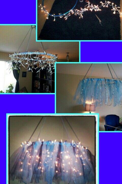 My Hula hoop chandelier