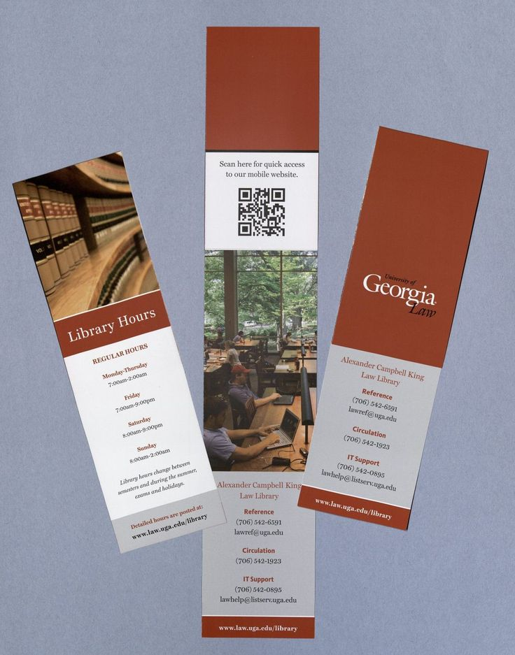 library hours bookmark - Bookmark Design Ideas