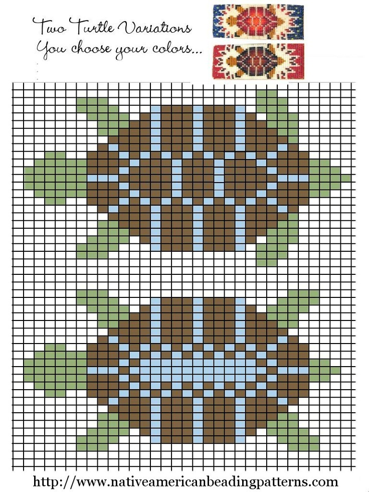 This is a nice turtle design. Loomed turtle design
