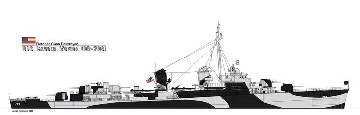 Fletcher Class Destroyer by PhantomofTheRuhr on DeviantArt