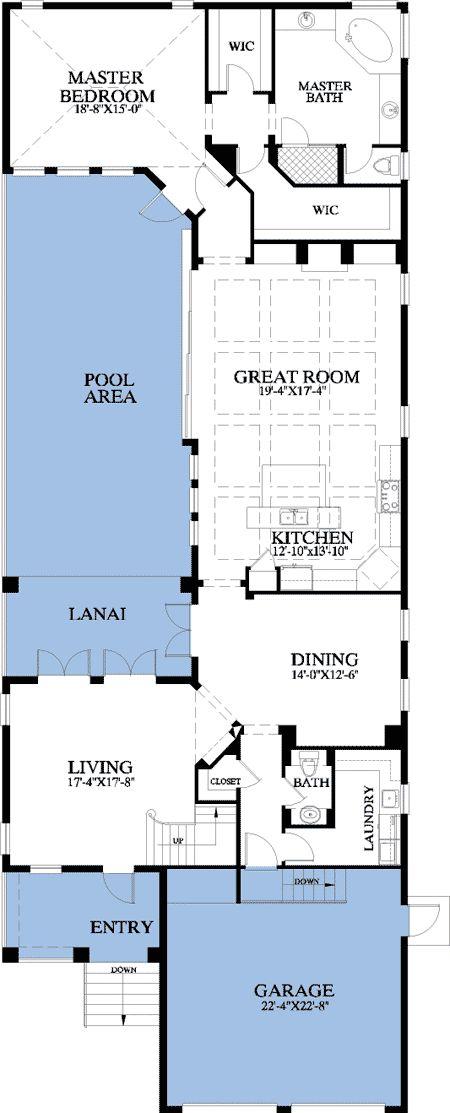 side yard/pool