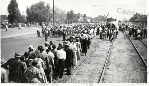 Arrival of first group of Russian Mennonite Immigrants in Rosthern, SK.-July 23, 1923 - Mennonite Archival Image Database