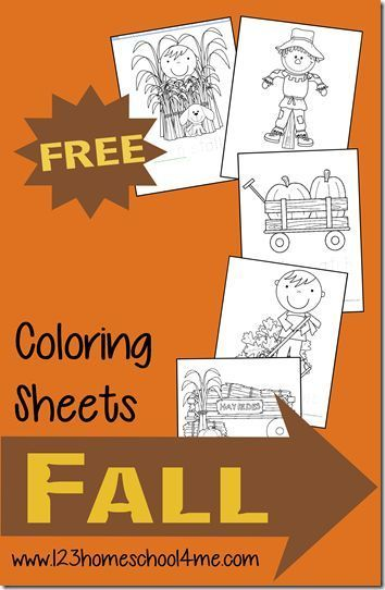 FREE Fall Coloring Pages for Kids - super cute coloring sheets for preschool, kindergarten, and 1st grade kids