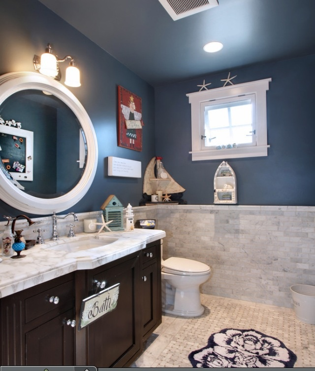 47 best Nautical bathroom images on Pinterest | Room, Home and ...