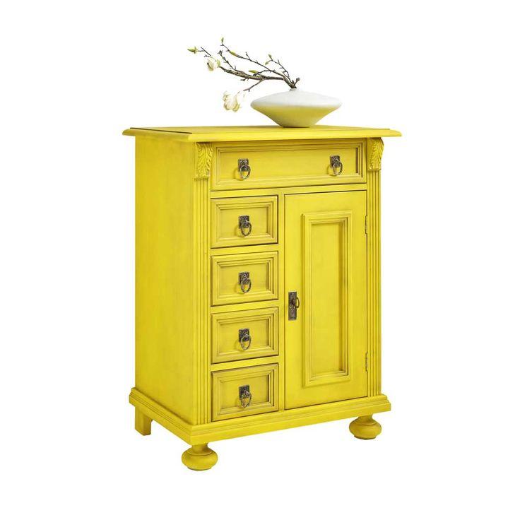 Diese Vintage Kommode In Gelb Aus Fichte Massiv Gefertigt Ist Der Absolute  Hingucker Für Ihr Zuhause