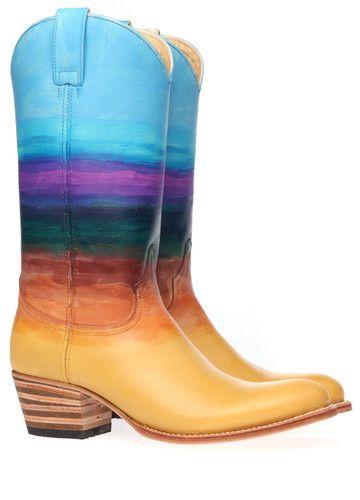 Blauwe/Groene/Gele Sendra laarzen 11792 boots