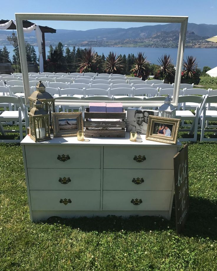 """52 Likes, 3 Comments - Waltzly (@waltzlyevents) on Instagram: """"Still swooning over this old fashioned dresser at this beautiful winery wedding ceremony. How…"""""""
