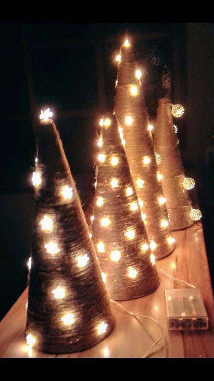 #christmas #decoration #lights #tree #diy #handmade