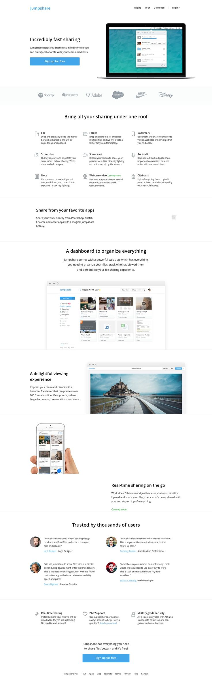 Jumpshare   Free File Sharing, Send Big Files, View Files Online