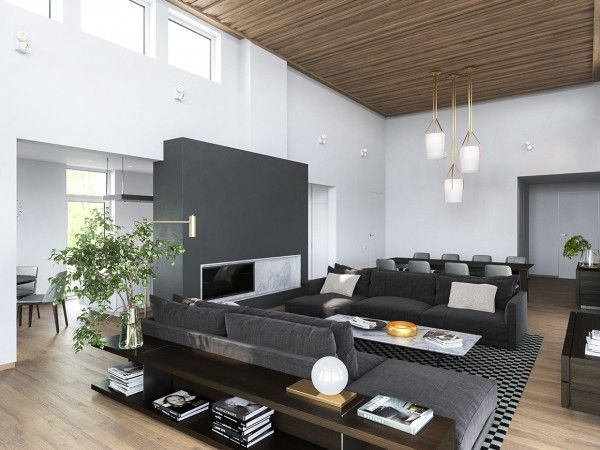 These Modern Homes Show The Playful Side Of Gray Interior Color Palettes.