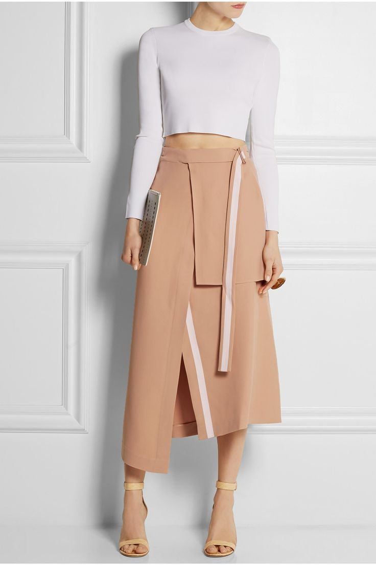 Richard Nicoll | Layered crepe midi skirt | $875