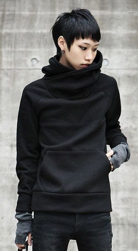 Like: Cowl neck, sweatshirt/ sweater that is NOT a hoodie
