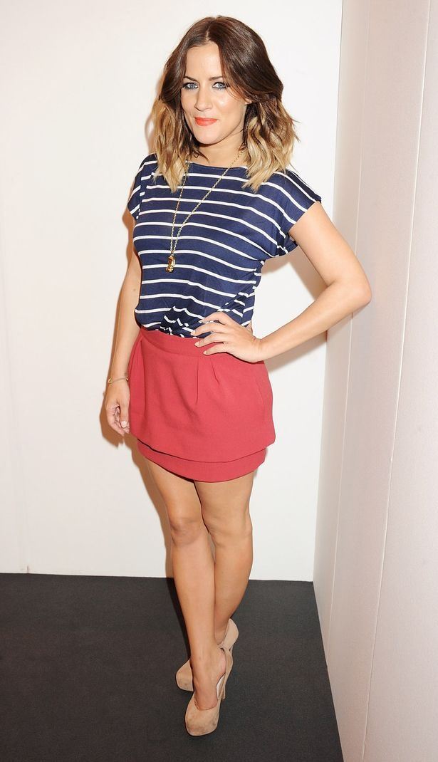 Caroline Flack is a British TV host and I love her style! She's so cool! (I don't have her great legs though!)