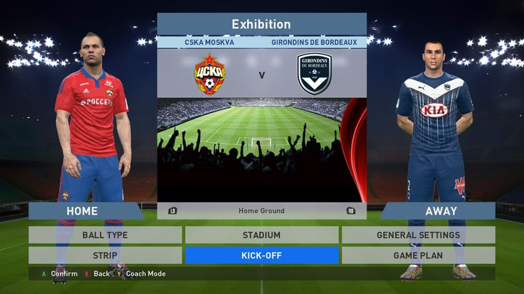 CSKA Moskva vs Girondins de bordeaux, VEB Arena, PES 2016, PRO EVOLUTION SOCCER 2016, Konami, PC GAMEPLAY, PCGAMEPLAY