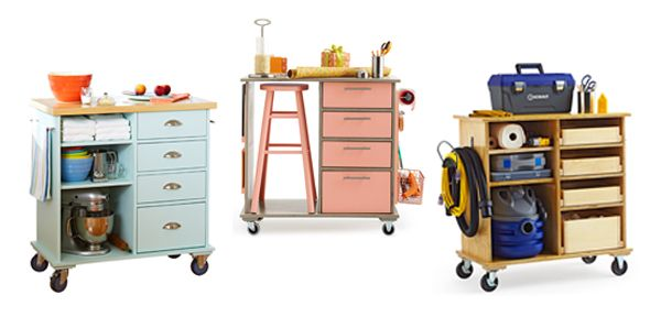 For all you DIY fans out there. Lowes has this link to make this beautiful carts at home. Love the 3 looks :)