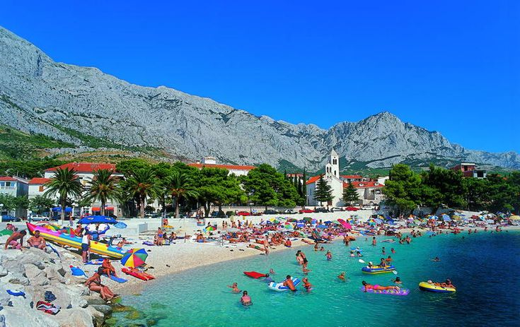 baska voda croatia  My first and only topless beach experience