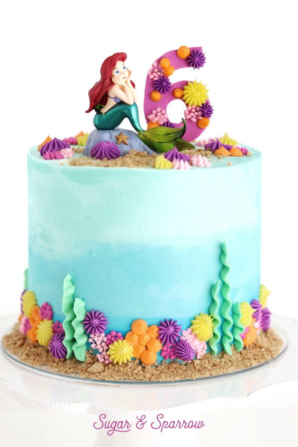 ariel mermaid cake design The Little Mermaid Cake  Mermaid cakes, Ariel cake, Little