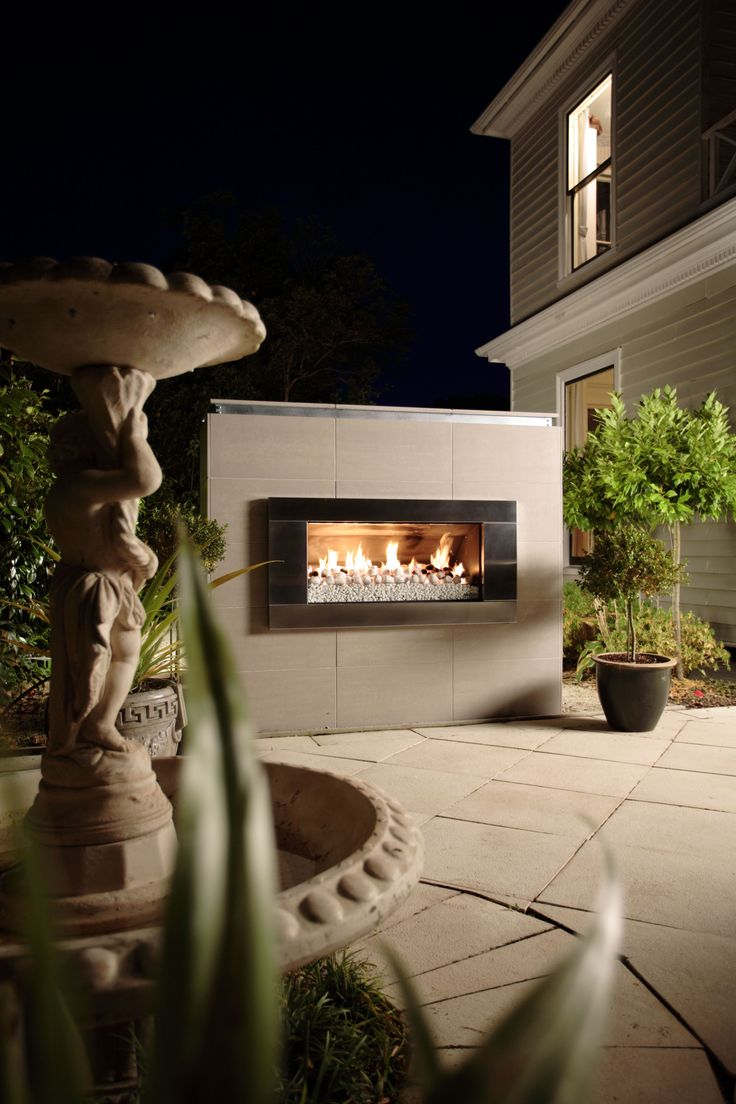 78 best ideas about outdoor gas fireplace on pinterest for Outdoor gas fireplace designs