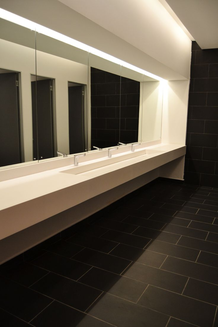 Our custom Slope-away vanity. Perfect for any bathroom, Commercial or residential.