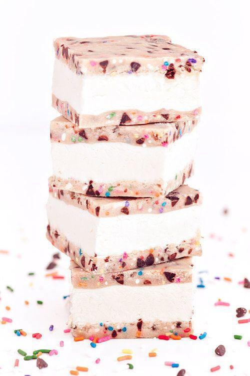#Confetti #Cookie #Dough #Ice #Cream #Sandwiches
