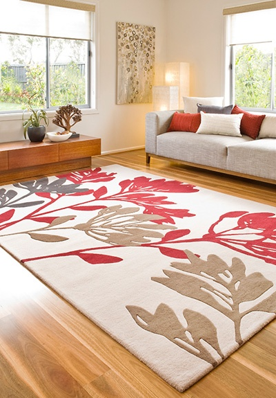 Sherman rug RRP $1,199  New Zealand wool blend  Hand tufted, plush pile with carved detail