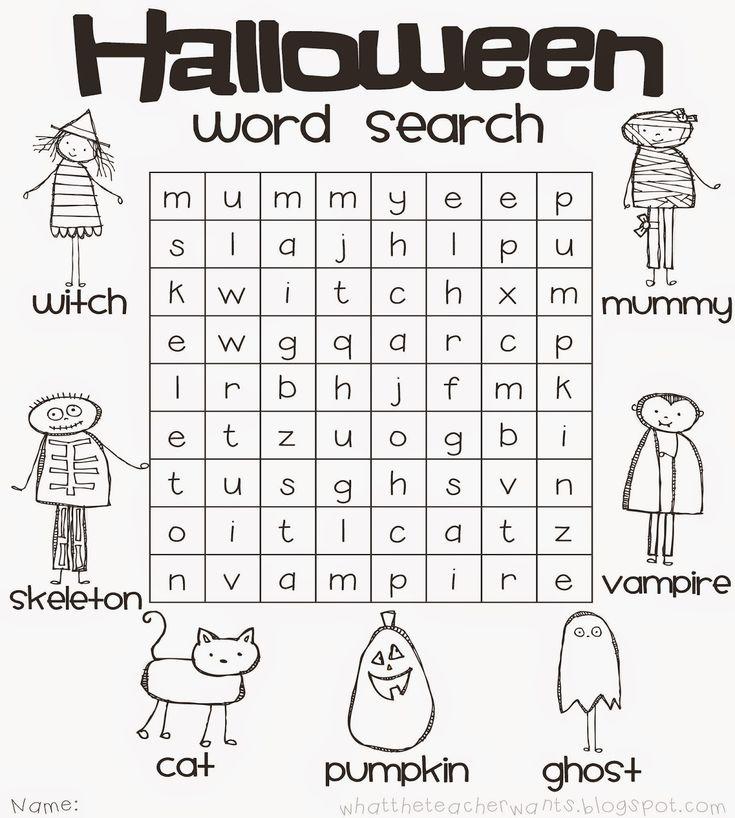 The 25+ best Halloween word search ideas on Pinterest