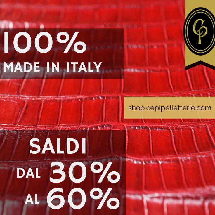 ***SALDI! http://shop.cepipelletterie.com/ **** Tagliamo i prezzi, non la qualità! Approfitta dei #saldi on line di #CepiPelletterie: 100% #MadeInItaly con #sconti dal 30% al 60%!