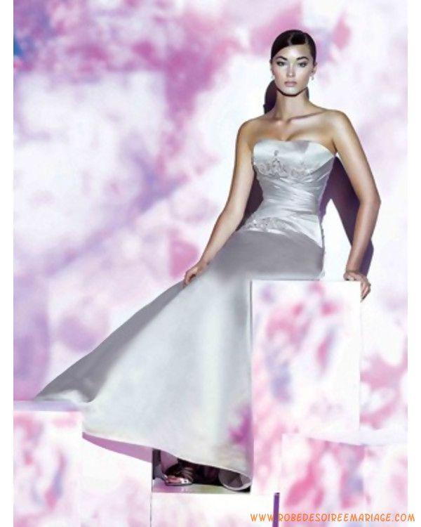 ... de cristal avec traîne  robe de mariée sur mesure nantes