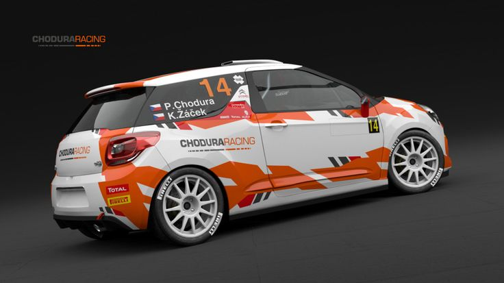 Chodura Racing - P. Chodura - K. Žáček (Citroen DS3 R3) - design and wrap.