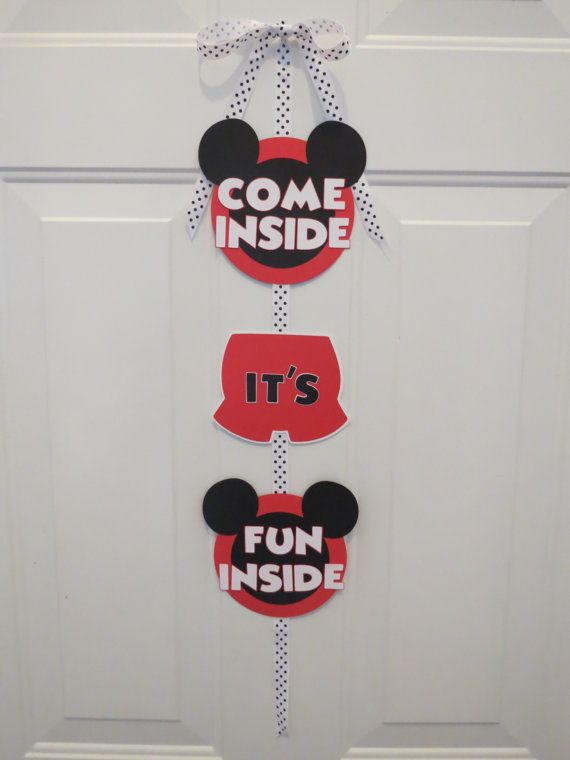 Mickey Mouse Clubhouse Door SignCome Inside by LittleDawgDesigns, $15.00