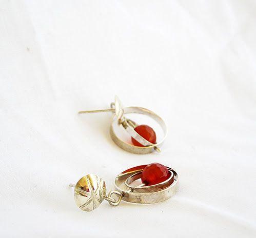 Opus Factory Aros Plata Cornalina #opus #earrings