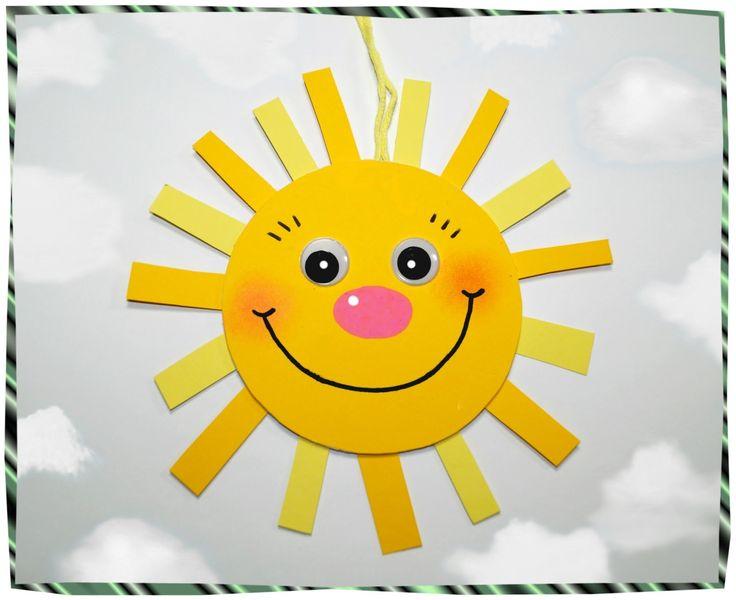 Lustige Bierdeckel-Sonne, Basteln mit Kindern