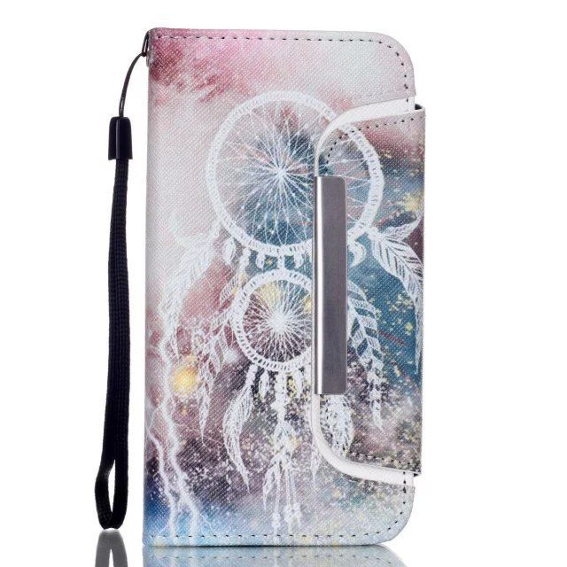 Long Magnetic Separate Detachable 2 in 1 Wallet PU Leather With Card Holders+Cash Slot+Photo Frame Flip Case for iPhone 6 4.7''