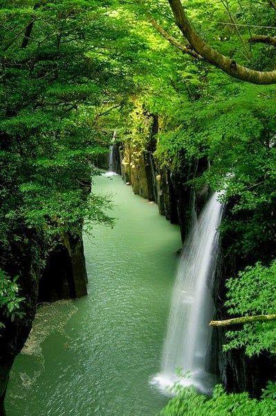 Natural Falls -Waterfall canyon,Takachiho - Japan.