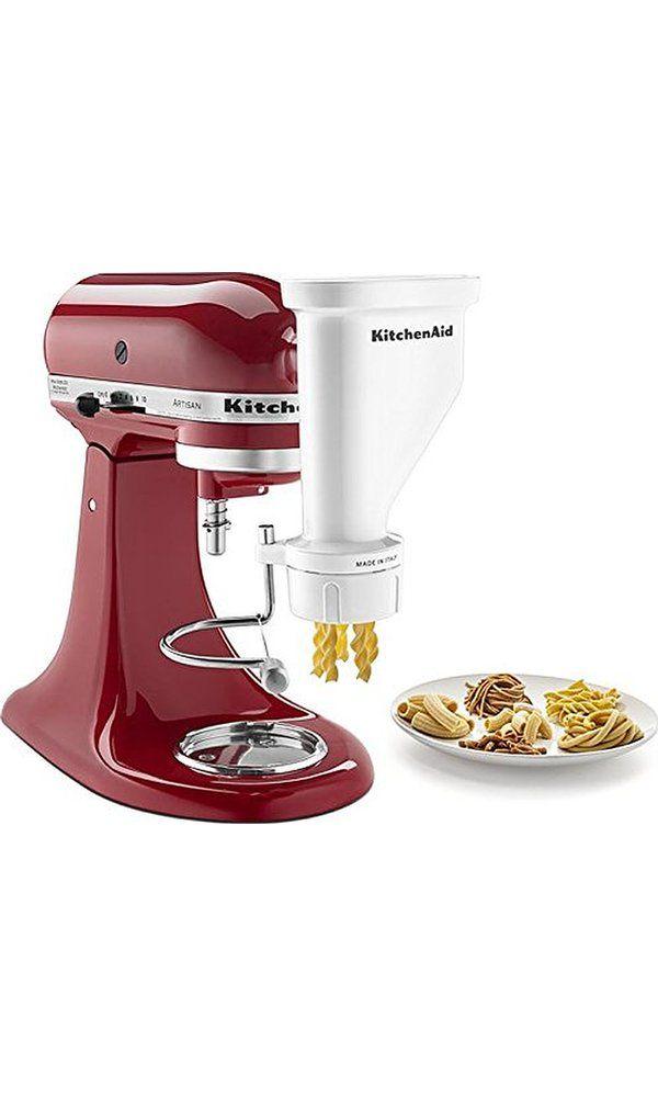 KitchenAid KSMPEXTA Gourmet Pasta Press Attachment With 6 Interchangeable  Pasta Plates, White Best Price