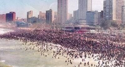 """Durban Beach Well, I must say: """"it's Durban - and I know it's a very hot humid city...."""""""