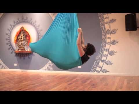 Aerial Yoga Pose Instruction: How to do a Shoulder Stand in an Aerial Yoga hammock - this way is slightly easier than what I did. I think I did it the hard way first...