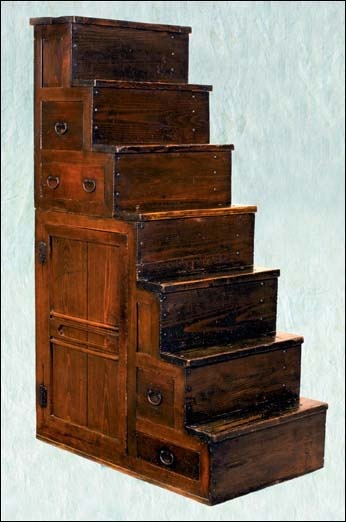 Kaidan Dansu, The Traditional Japanese Step Chest. These Storage Units Were  Used As Stairs To A Loft Space, Often Living Space Above A Shop.