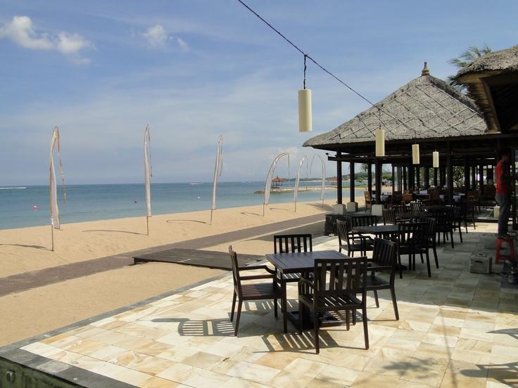 One of the outdoor reception venue for small destination wedding at Conrad Bali.