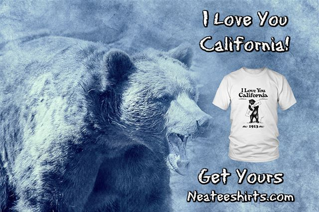 5e5dc01d Our Popular I LOVE YOU CALIFORNIA t-shirt in short sleeve and long sleeve  and
