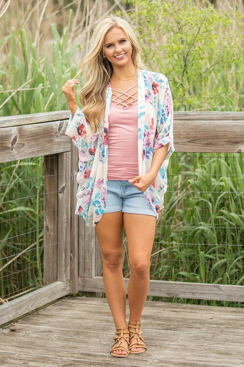 Expression Of My Heart Floral Kimono - The Pink Lily