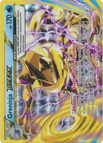 Pokemon - Greninja-Break (41/122) - XY BREAKPoint I WANT THIS CARD THIS IS MY DREAM CARD OMG